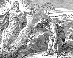 Yahweh, Moses and burning bush