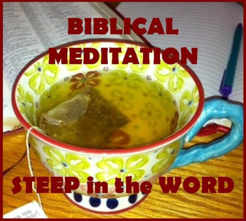 biblical meditation, mediation, Christian meditation