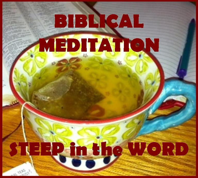 Bible Study Notebook – Meditation Worksheet