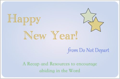 New Year post recap from Do Not Depart plus more resources