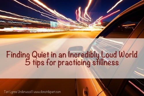 5 tips for practicing stillness