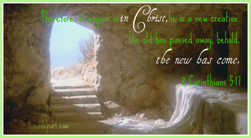 New life is in Christ Jesus
