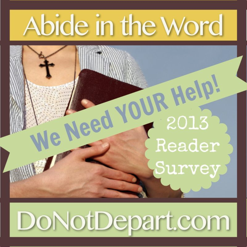 Do Not Depart 2013 Reader Survey