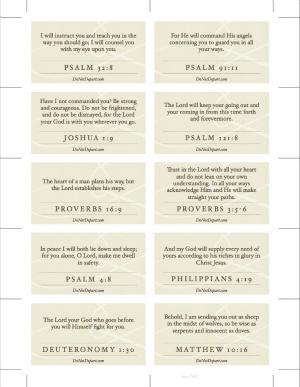 Scripture Travel Cards - DoNotDepart.com