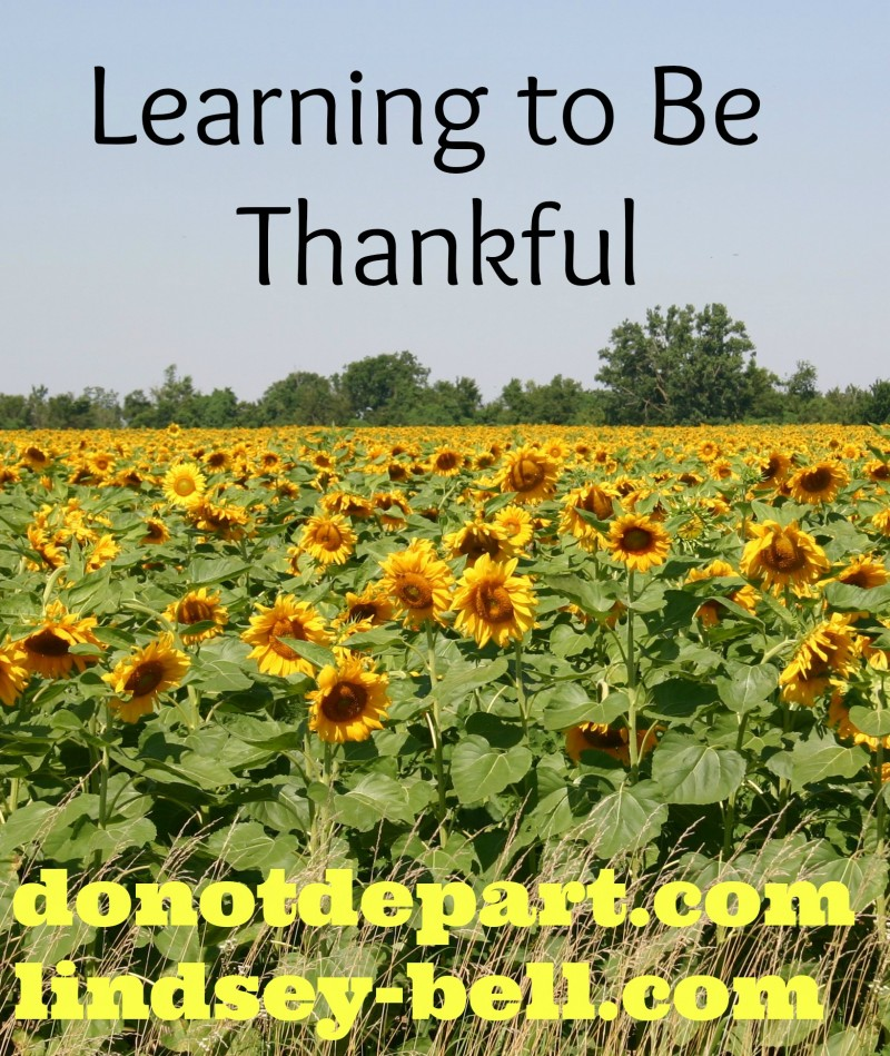 Learning to Be Thankful {a guest post from Lindsey Bell on DoNotDepart.com}