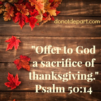 The Sacrifice of Thanksgiving {guest post month on DoNotDepart.com}