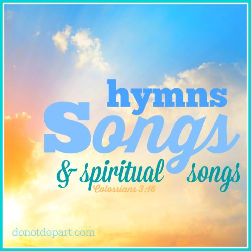 Songs Hymns Spiritual Songs