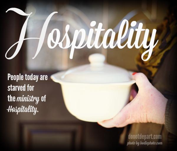 Hospitality Do Not Depart