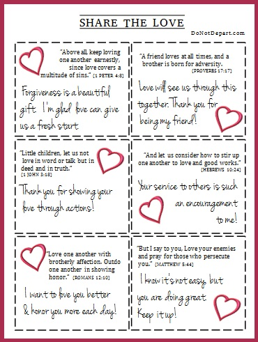 6 Love Notes From Scripture To Print And Share Do Not Depart