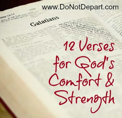 God's comfort and strength