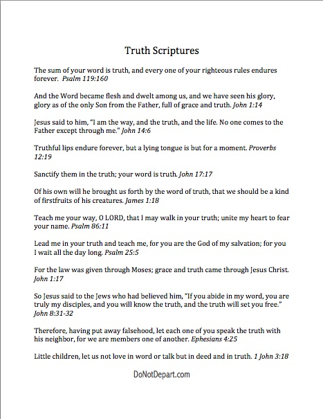 Encouragement in the Word: TRUTH