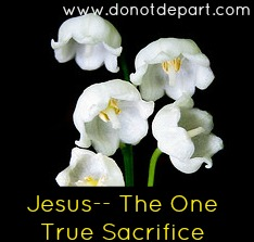 Jesus - The One True Sacrifice and what that means at www.donotdepart.com