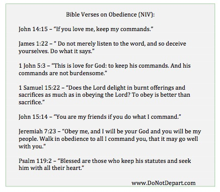 Free Printable-Bible Verses on Obedience