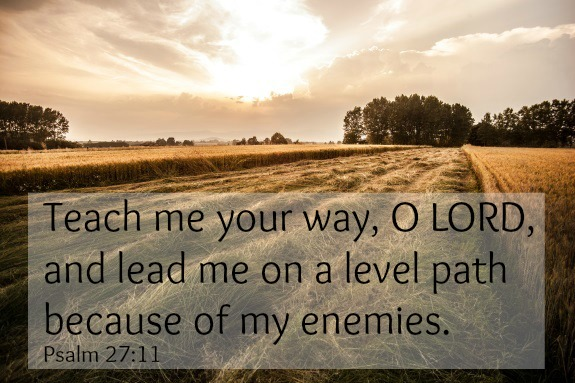 A prayer for level paths – Psalm 27:11 {Memory verse}