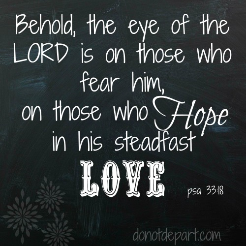 Psalm 33:18 – The Eye of the Lord
