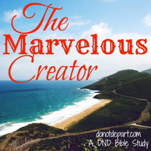 A Summertime Bible Study -- worship The Marvelous Creator with us at DoNotDepart.com