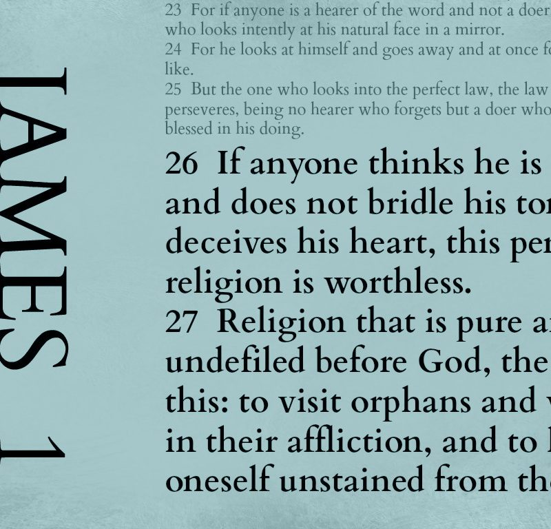 What is pure religion? – James 1:26-27 {Memory verse}