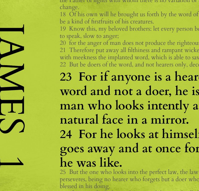 Look in the mirror – James 1:23-24 {Memory verse}