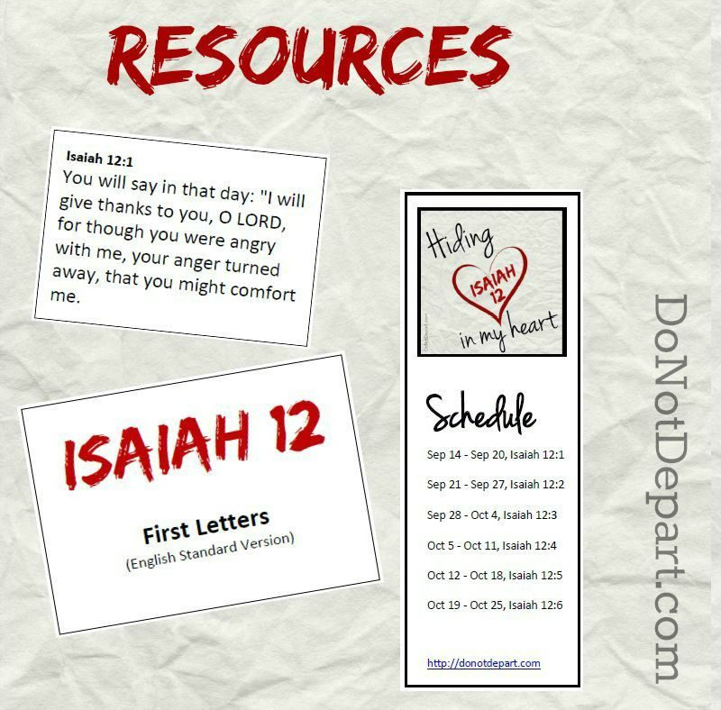 Printable resources to memorize Isaiah 12