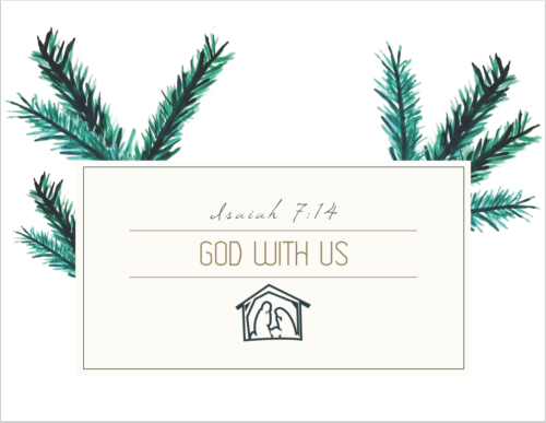 God with Us Printable from Do Not Depart