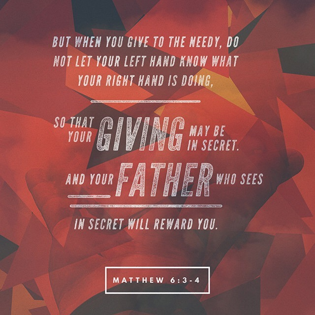 Who will reward you? Memorizing Matthew 6:3-4 - Do Not Depart
