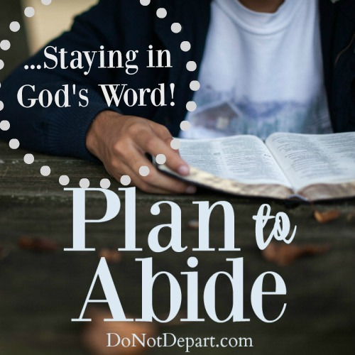 Plan to Abide in God's Word ... Read more at DoNotDepart.com