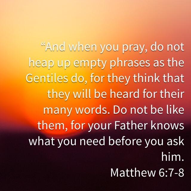 When We're Afraid to Pray Aloud – Memorizing Matthew 6:7-8