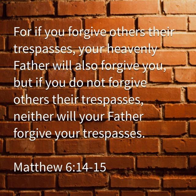 From Falling to Forgiving – Memorizing Matthew 6:14-15