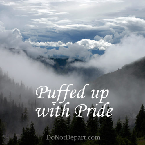 Pride makes us seem substantial, when all it is is air. The grace of God pricks our hearts and grows us in humility.
