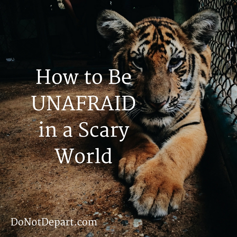 How to be unafraid in a scary world - Lindsey Bell on Do Not Depart