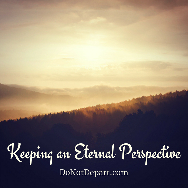Renewing our minds with an eternal perspective gives us hope in the midst of earthly struggles.