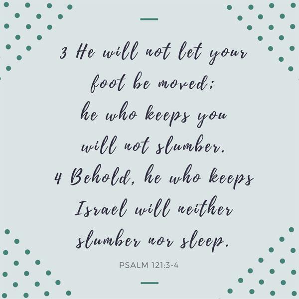 Who Is Guarding You? {Memorizing Psalm 121:3-4}