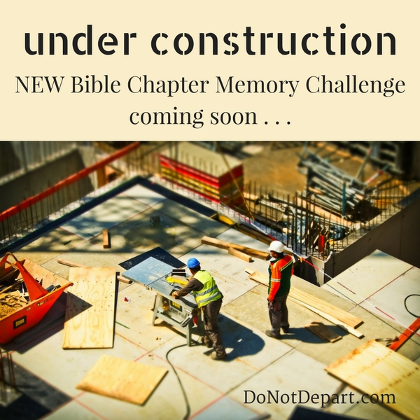 Under Construction…New Memory Challenge