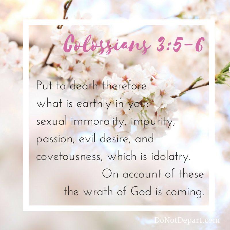 Put It Down {Memorizing Colossians 3:5-6}