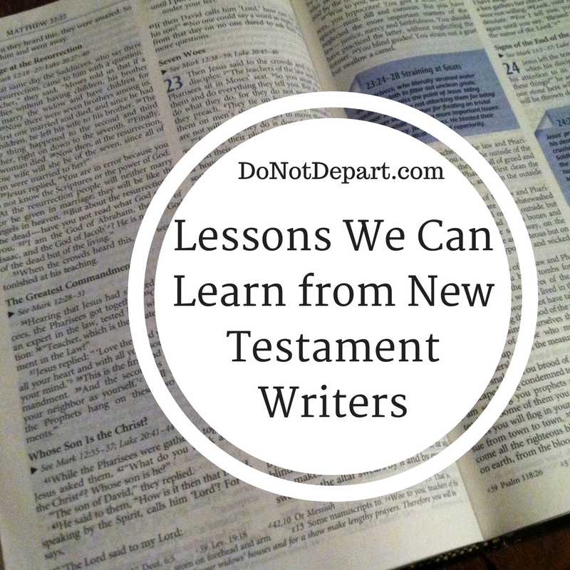 Lessons we can learn from New Testament Writers - Matthew