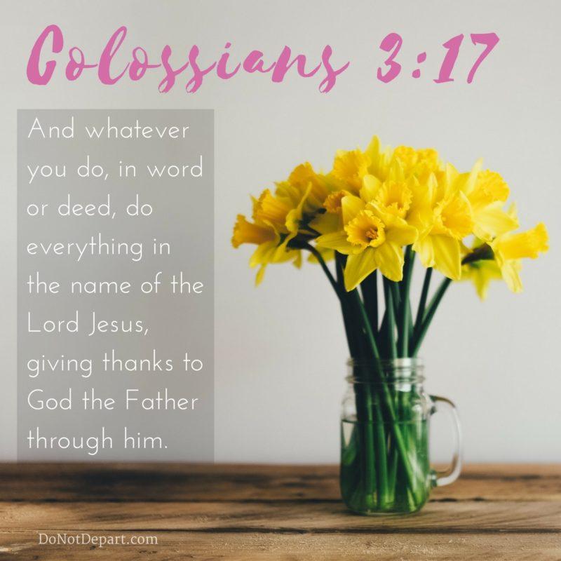 Whatever You Do {Memorizing Colossians 3:17}