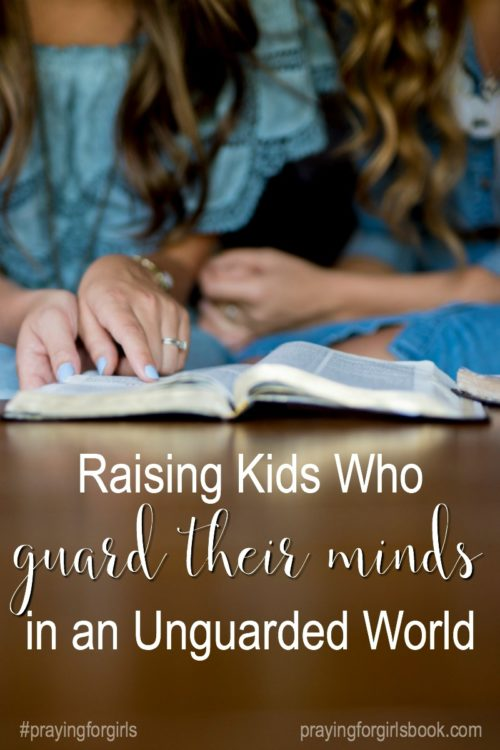 As moms, we have a great opportunity to guide our children to habits, practices, and disciplines that will help them guard their minds and protect their hearts. But long before we ever teach them, we must be praying and applying these disciplines in our own lives.