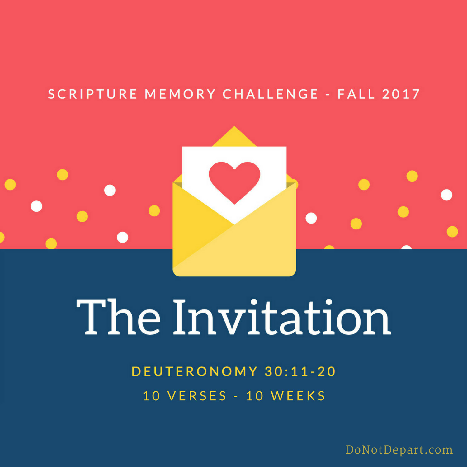 Your Invitation – Register to Memorize Deuteronomy 30