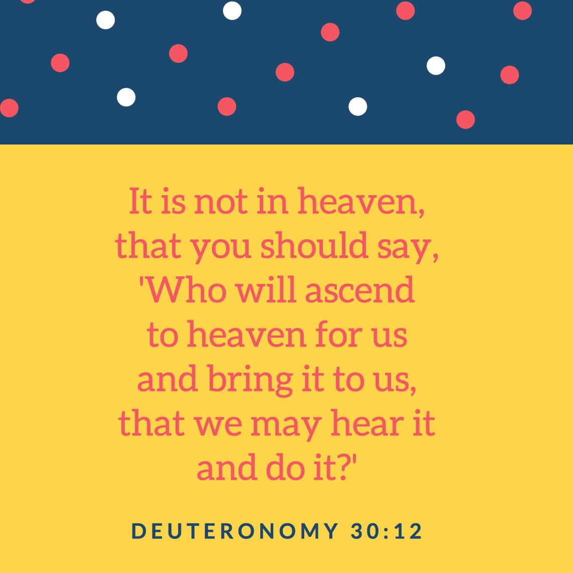 Tips for Memorizing Deuteronomy 30:12