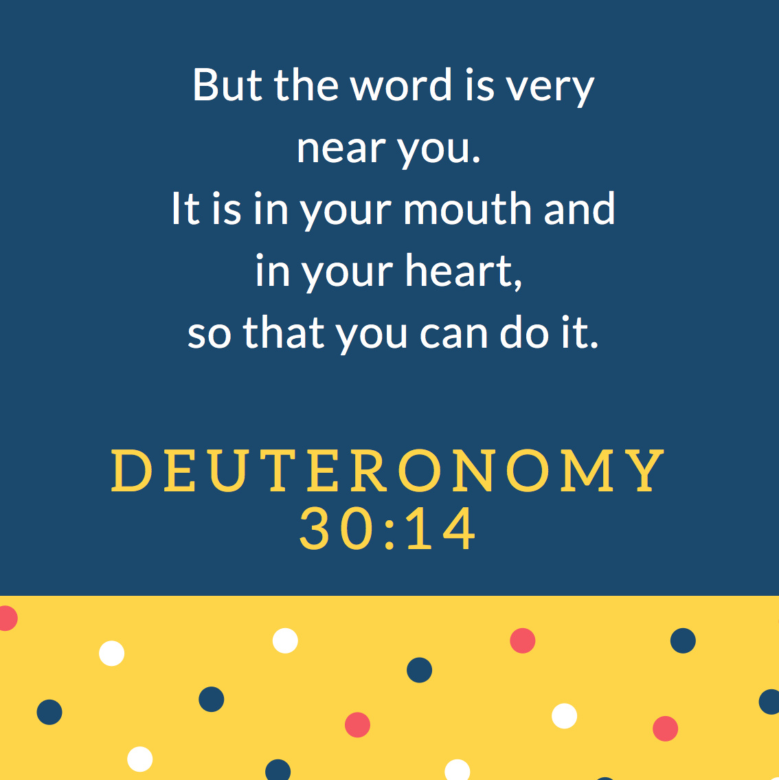 Look at First Words – Tips to Memorize Deuteronomy 30:14