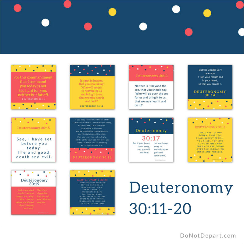 Review Week – Memorizing Deuteronomy 30:11-20