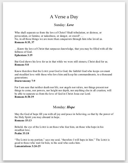 Verse-a-Day