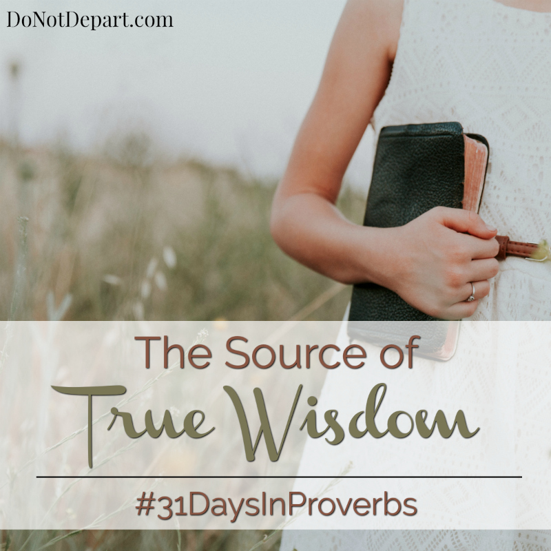 The Source of True Wisdom - #31DaysInProverbs - Studying Proverbs at DoNotDepart.com
