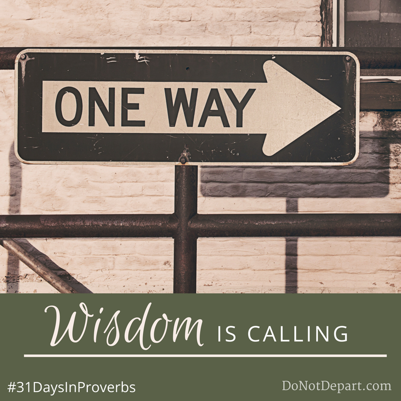 Wisdom is calling - Proverbs