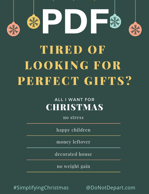 0a793eae5f0d8 Tired of Looking for the Perfect Gift? - Do Not Depart