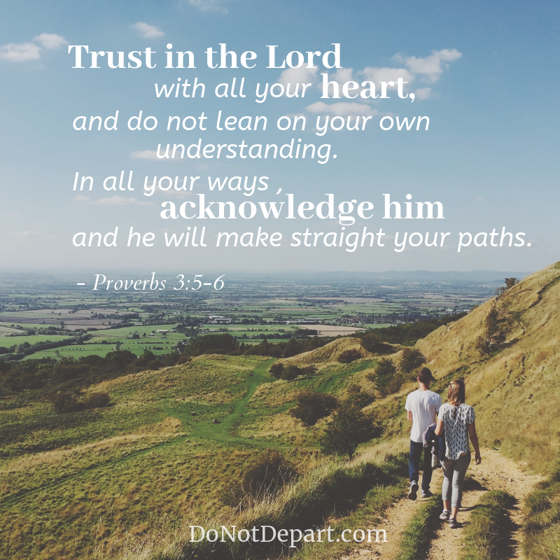 Trust in the Lord with all your heart, and do not lean on your own